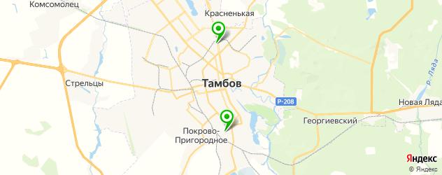 Замена лобового стекла Рено на карте Тамбова