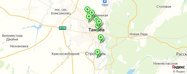 спортивные клубы на карте Тамбова