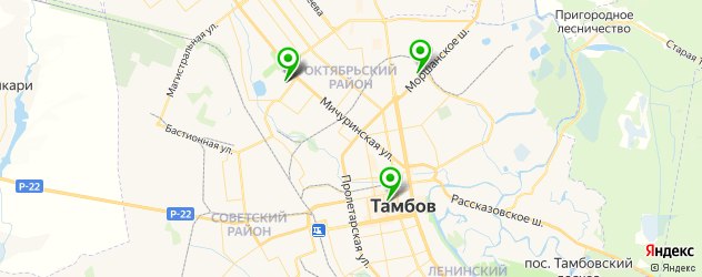 поликлиники на карте Тамбова