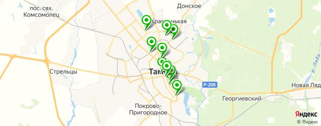 институты на карте Тамбова