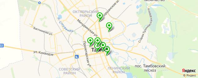 анализы на карте Тамбова