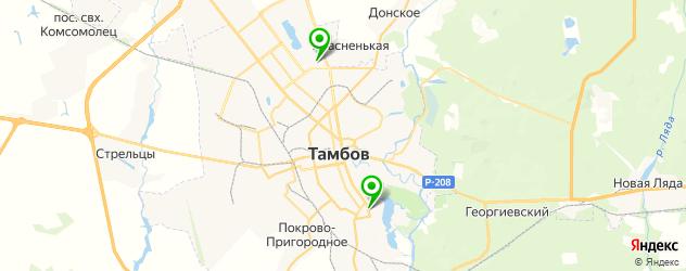 боди-арты салон на карте Тамбова