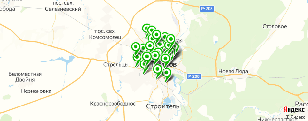 автосервисы на карте Тамбова