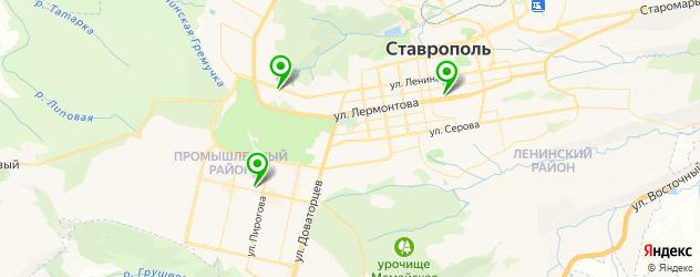 детские поликлиники на карте Ставрополя