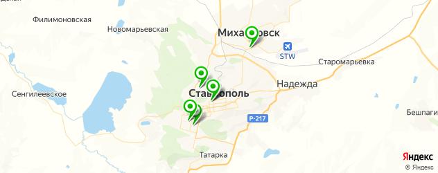 анализы на карте Ставрополя