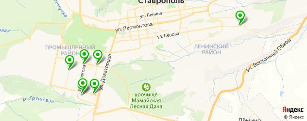 салоны бровей на карте Ставрополя