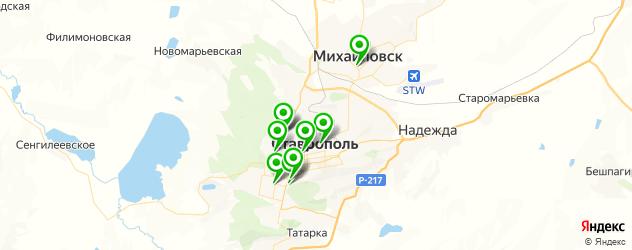 реабилитационные центры на карте Ставрополя