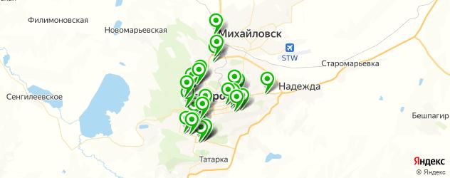 магазины запчастей на карте Ставрополя