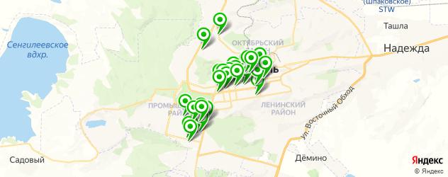 салоны красоты на карте Ставрополя