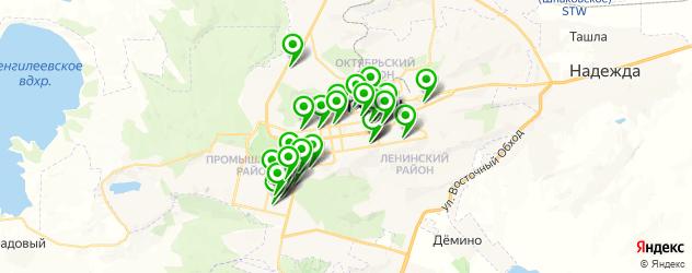 Спорт и фитнес на карте Ставрополя