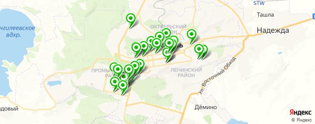 тренажерные залы на карте Ставрополя