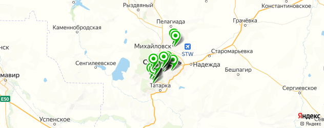 школы танцев на карте Ставрополя
