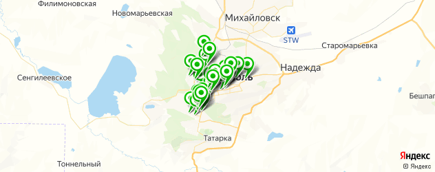 типографии на карте Ставрополя