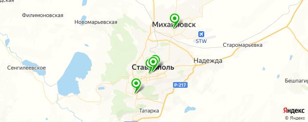 театры на карте Ставрополя