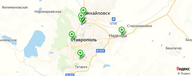 авторазборки на карте Ставрополя
