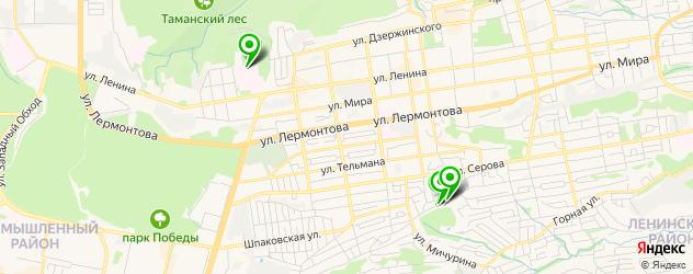 детские больницы на карте Ставрополя