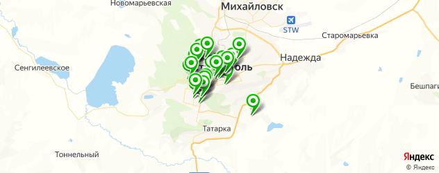 рестораны для дня рождения на карте Ставрополя