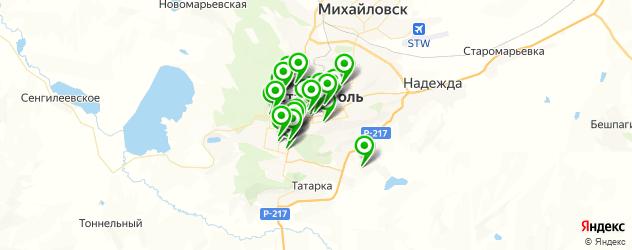 рестораны для свадьбы на карте Ставрополя