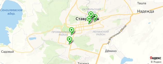 антикафе на карте Ставрополя