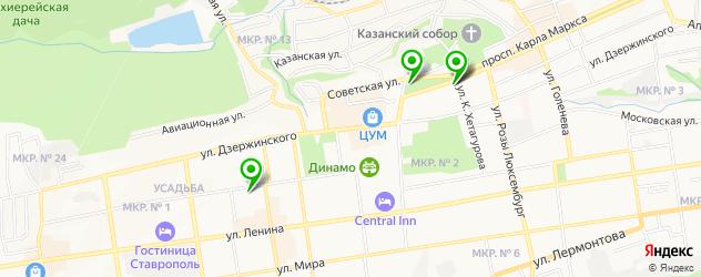 картинные галереи на карте Ставрополя