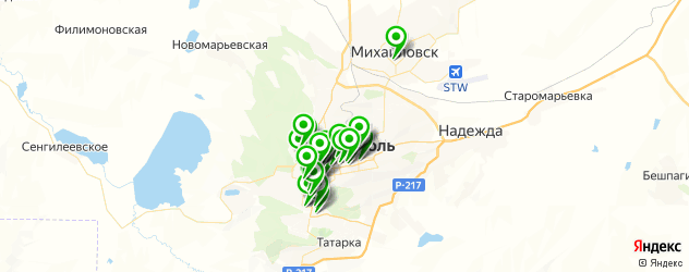 курсы на карте Ставрополя