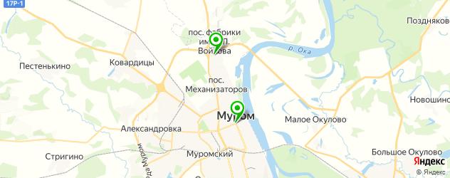 кафе для дня рождения на карте Мурома