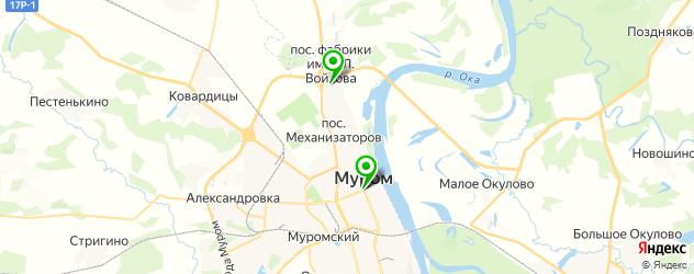спорты-бары на карте Мурома