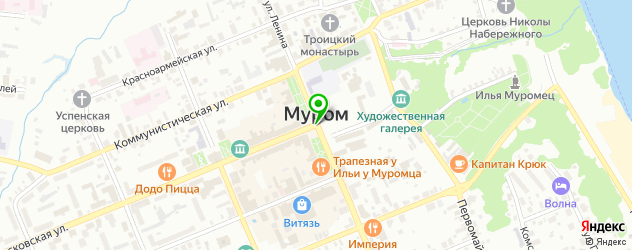 постные кафе на карте Мурома