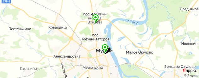 Доставка обедов на карте Мурома