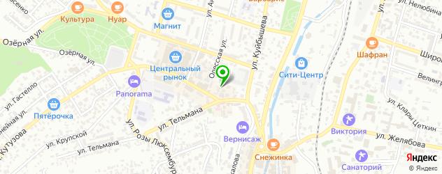 обувные мастерские на карте Кисловодска