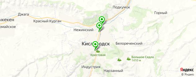 школы танцев на карте Кисловодска