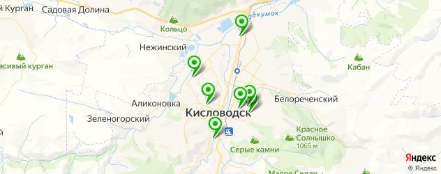 студии загара на карте Кисловодска