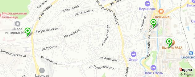 поликлиники на карте Кисловодска