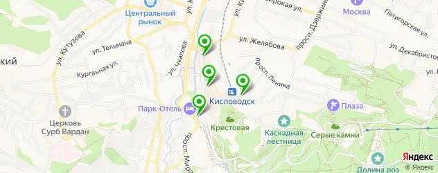 экскурсии на карте Кисловодска