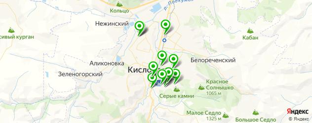 Доставка шашлыка на карте Кисловодска