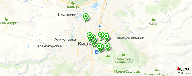 пиццерии на карте Кисловодска