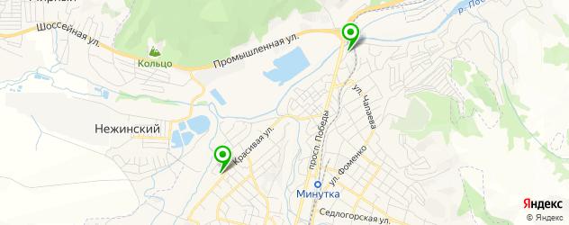 автостоянки на карте Кисловодска