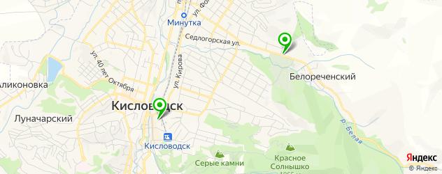 картинги на карте Кисловодска