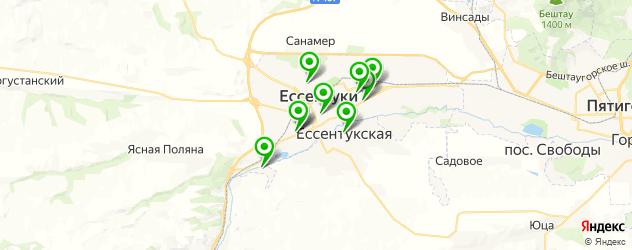 библиотеки на карте Ессентуков