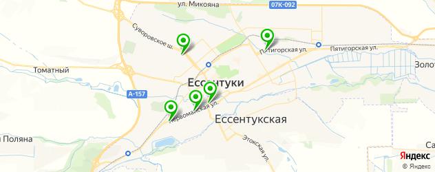 магазины шин и дисков на карте Ессентуков