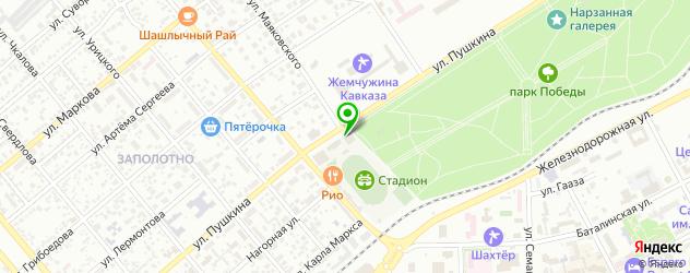 стадионы на карте Ессентуков