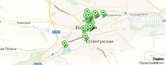 рестораны на карте Ессентуков