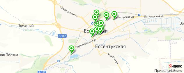 рестораны с танцполом на карте Ессентуков