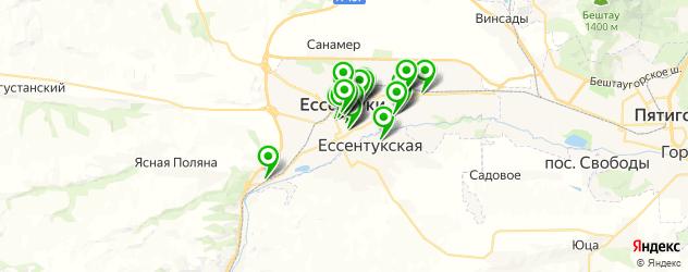 банкетные залы на карте Ессентуков