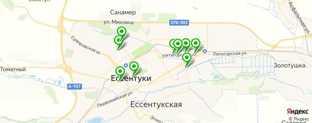 фитнес-клубы на карте Ессентуков