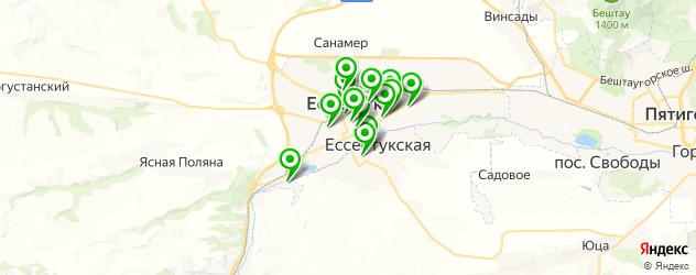 обменные пункты на карте Ессентуков