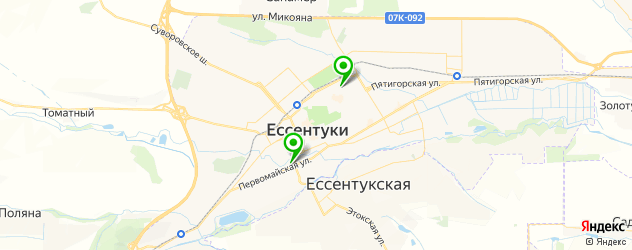 дома культуры на карте Ессентуков