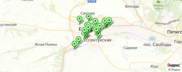 Развлечения на карте Ессентуков