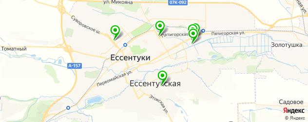 больницы на карте Ессентуков