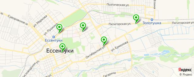 студии загара на карте Ессентуков